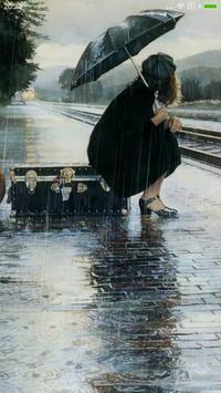 Rainy mood live wallpaper poster