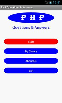 PHP Questions & Answers poster