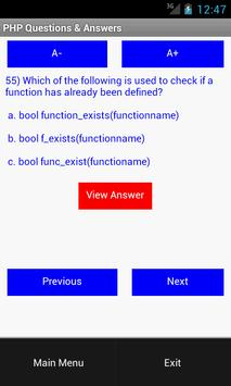 PHP Questions & Answers apk screenshot