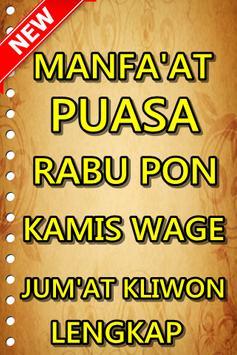Manfaat Puasa Rabu Pon Kamis Wage Jum'at Kliwon poster
