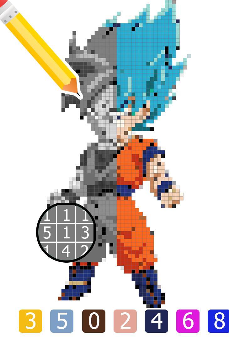 Como Desenhar E Colorir Por Numero Dragon Ball Para Android Apk