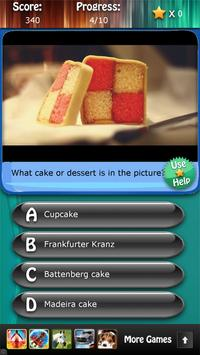 Desserts and Cakes Quiz HD apk screenshot