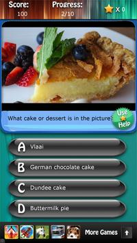 Desserts and Cakes Quiz HD poster