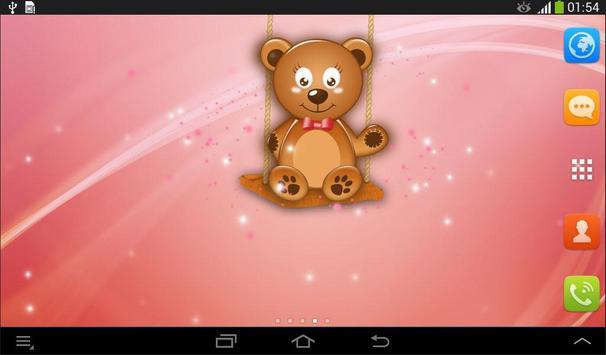 Live Wallpaper Teddy Bear apk screenshot