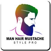 Man Hair Mustache Style Pro icon