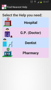 Find Nearest Help i.e.hospital poster