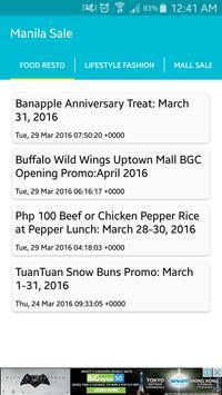 Manila Sale Alert apk screenshot