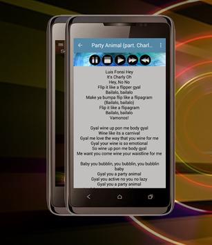 Musica Luis Fonsi Party Animal screenshot 2