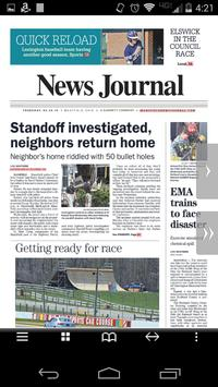Mansfield News Journal Print poster