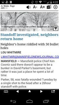 Mansfield News Journal Print screenshot 1