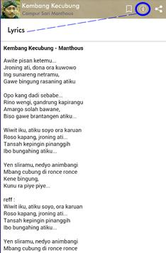 Campur Sari Manthous Plus Lirik screenshot 4