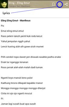 Campur Sari Manthous Plus Lirik screenshot 7