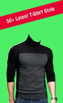 Man T shirt fashion photo suit poster