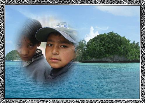 Island Photo Frame poster
