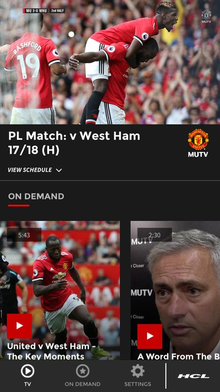 Manchester united tv frequency