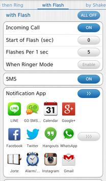 Vibrate then Ring with Flash poster