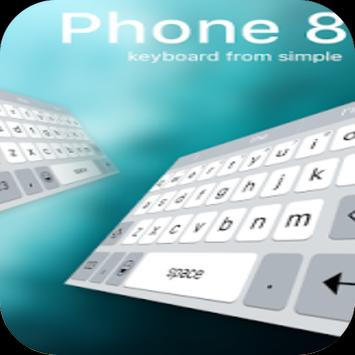 Keyboard for phone 8 apk screenshot
