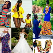 Fashion and African clothes icon