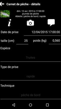 Carnet de pêche apk screenshot