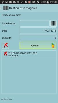 Gestion d'un magasin par codes apk screenshot
