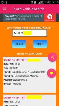 Mumbai Towed Vehicle Search poster