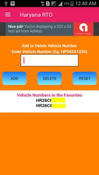 Haryana Vehicle Registration Details screenshot 1