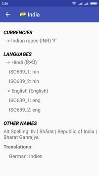 Country Dictionary - Offline world, countries info screenshot 2