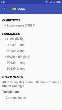 Country Dictionary - Offline world, countries info screenshot 2