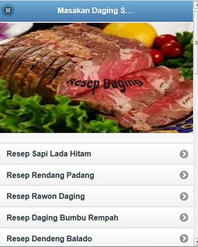 Masakan Daging Sapi poster