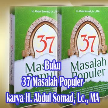 Buku 37 Masalah Populer karya Abdul Somad Maroko poster