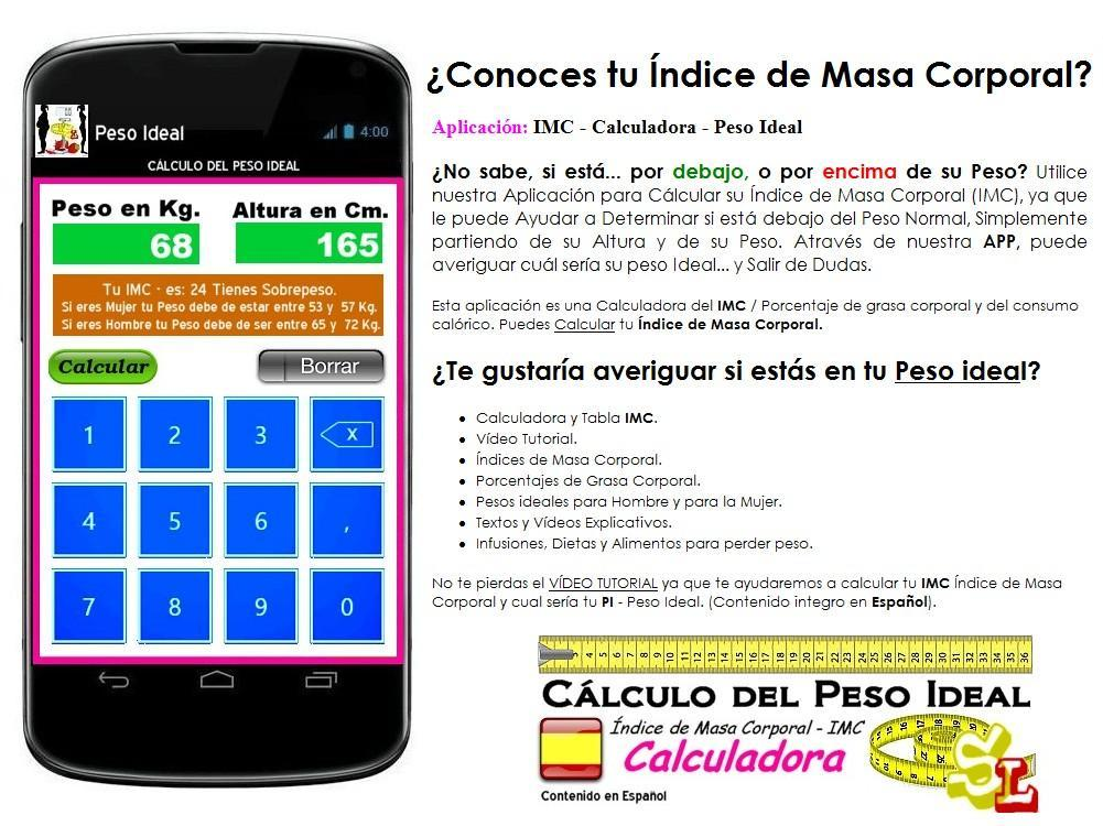 calcular indice de massa corporal peso ideal