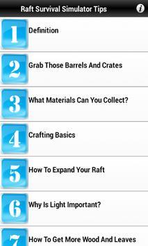 Guides For Raft Survival screenshot 1