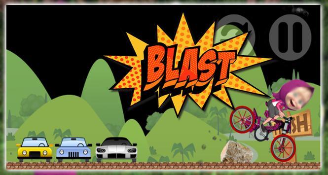 Masha with Bear Super Bike screenshot 1