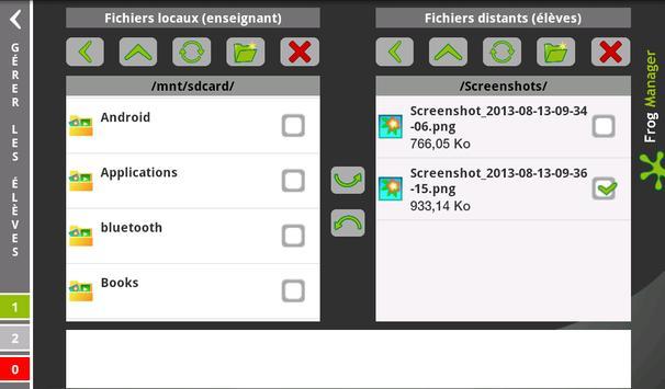 Frog Manager - Élève apk screenshot
