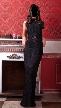 Girl Evening Dress Photo Montage poster
