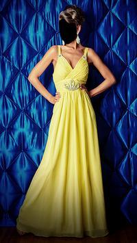 Girl Evening Dress Photo Montage screenshot 1