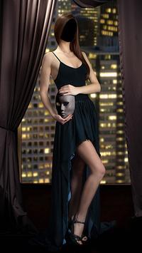 Girl Evening Dress Photo Montage screenshot 3