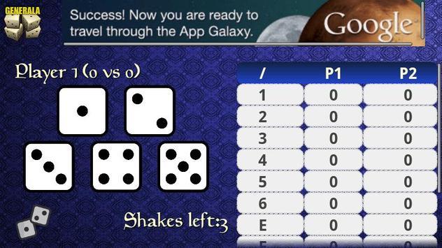 Generala Free apk screenshot