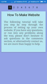 How To Make Website apk screenshot