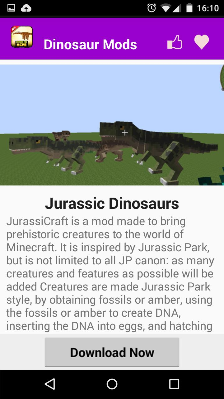 Dinosaur Mod For MCPE* for Android - APK Download