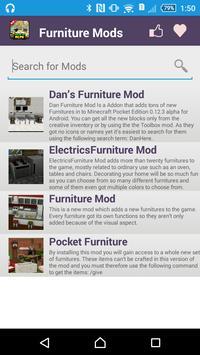 Furniture Mod For MCPE* apk screenshot