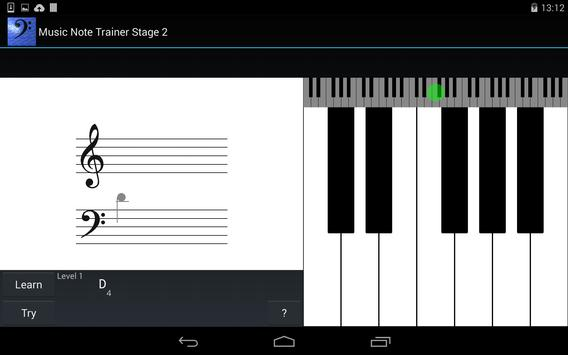 Music Note Trainer Stage 2 screenshot 1
