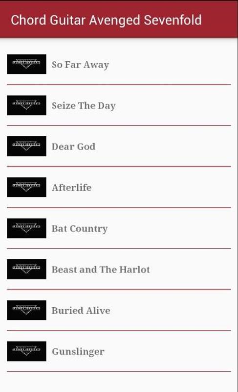 Chord Guitar Avenged Sevenfold for Android - APK Download