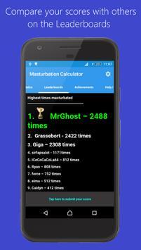 Masturbation Calculator captura de pantalla 3