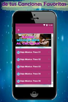 Bajar Musica mp3 a mi Celular Rapido y Gratis Guía screenshot 4