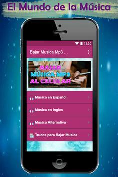 Bajar Musica mp3 a mi Celular Rapido y Gratis Guía screenshot 1