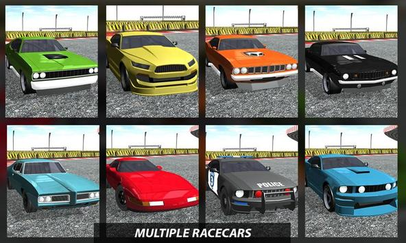 High Speed Muscle Car Race 3D poster