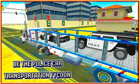 Police Car Transporter Truck poster
