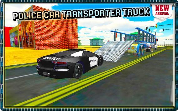 Police Car Transporter Truck apk screenshot