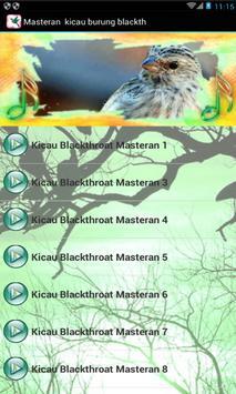 Masteran  kicau : burung blackthroat juara poster